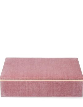"Aerin AERIN - Valentina Velvet Single Layer Jewellery Box - Dusty Rose - 11.6"" L x 8.6"" W x 3.2"" H"