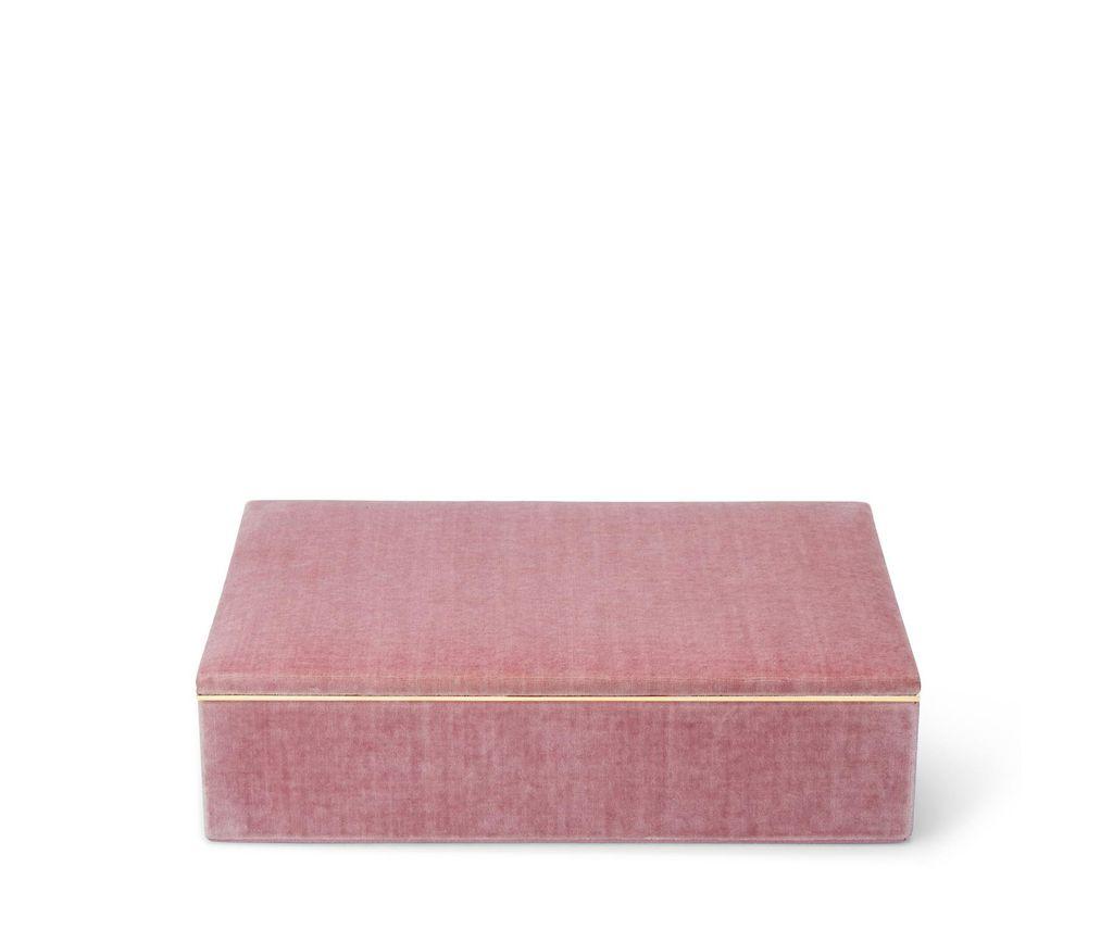 "Aerin AERIN - Valentina Velvet Single Layer Jewellery Box - Dusty Rose - 11.6"" L x 8.6"" W x 3.2"" H"