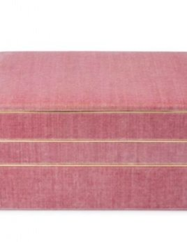Aerin AERIN - Valentina Velvet Stacked Jewellery Box - Dusty Rose