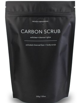Carbon Scrub Carbon Scrub - 200g Activated Charcoal Face and Body Scrub - Australian Made