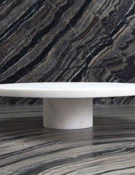 Kelly Wearstler Kelly Wearstler - Melange Entertaining Plate Stand - White Marble - Large - 34.5x10cm