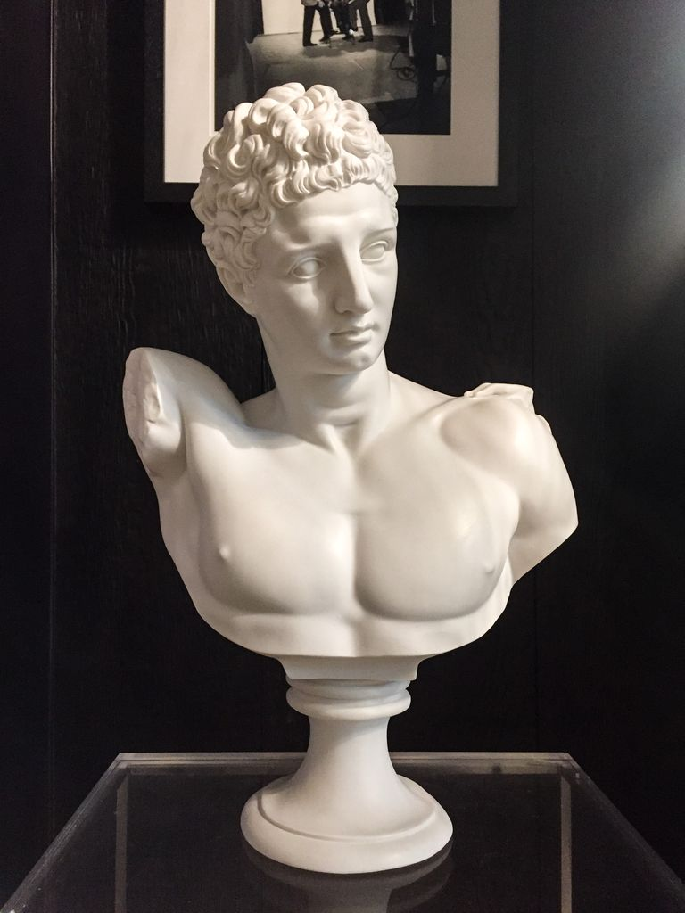 Mercer and Lewis Hermes Alabaster Bust - Mercer and Lewis approx H56cm - Greece