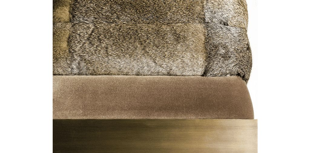 Dawn Bench - Brass, Velvet and Fur - Custom Sizes and Material Available - Portugal