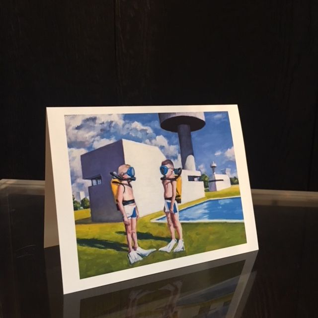 James King - Handmade Greeting Cards - Action Jackson and his Twin Brother Pondering an imaginery Future