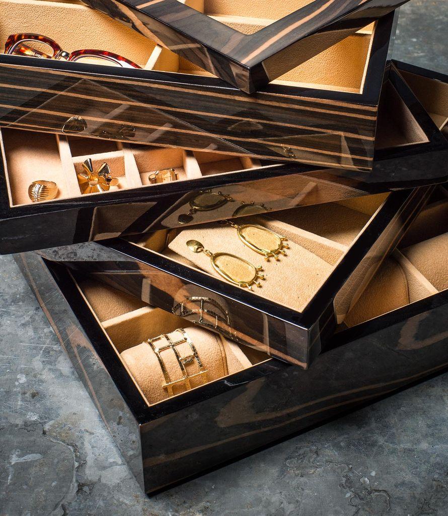 BECKER MINTY - Ebony - 12 Watch Tray - Modular Jewellery and Accessory Tray