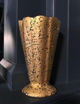Vintage Weeping Bright Gold Splattered Vase H19cm - USA