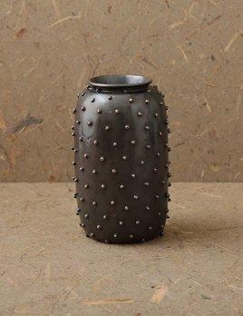 Kelly Wearstler Kelly Wearstler - Studded Vase - Gun Metal
