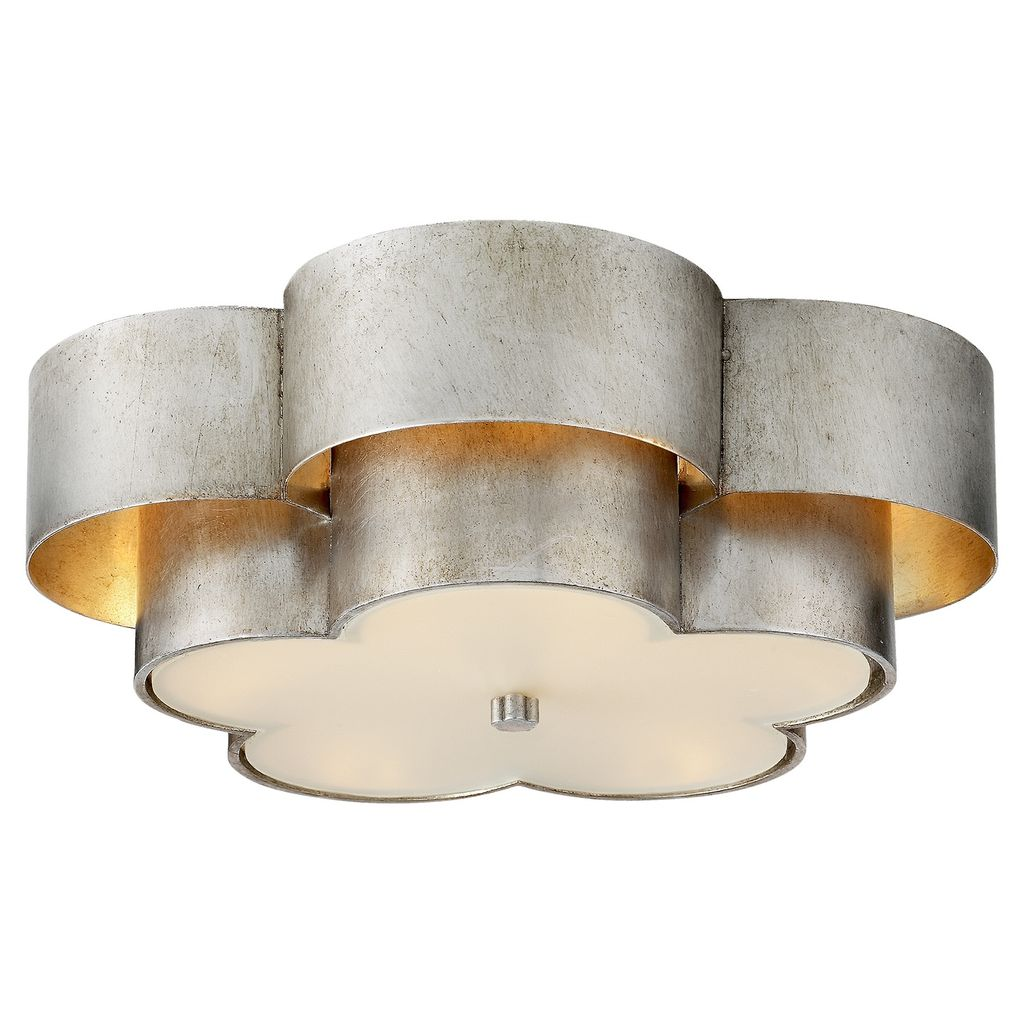 AERIN - Arabelle Large Flush Mount in Gild with Frosted Acrylic