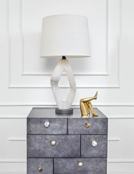 Kelly Wearstler Kelly Wearstler - Palisades Diamond Table Lamp - Alabaster