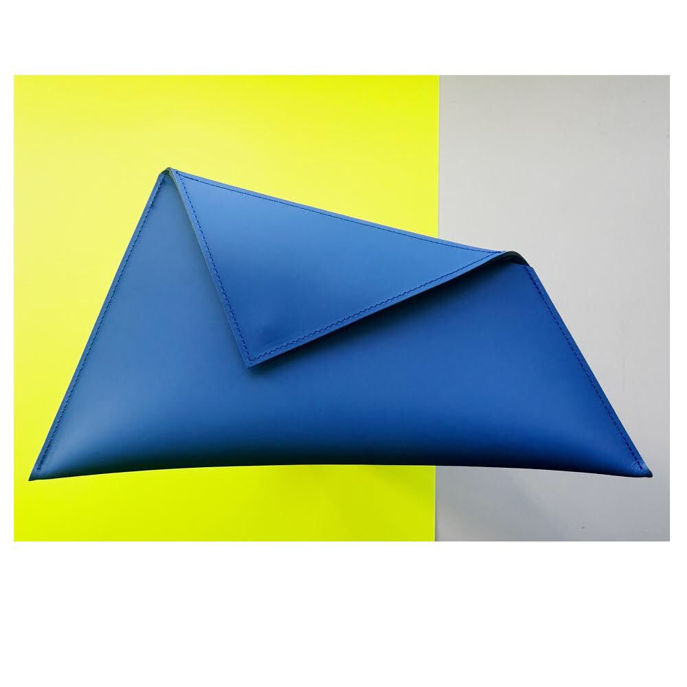 Karen Smith Agency CHELSEY - Asymetrical Clutch with  Magnectic Clasp - Handmade in Athens