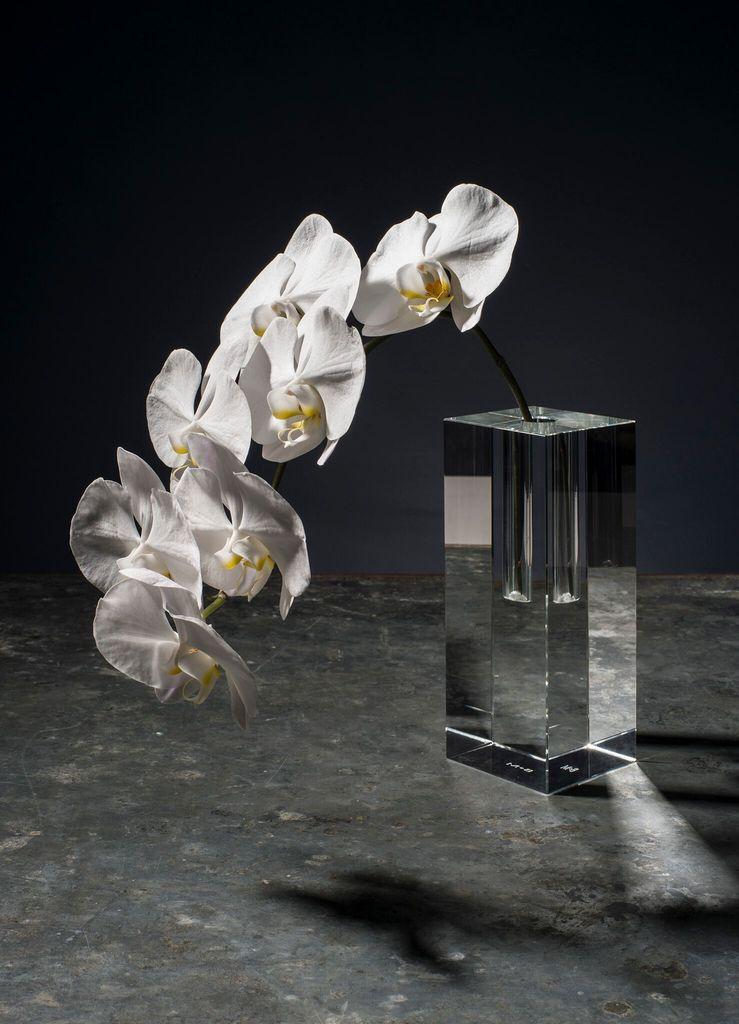 Becker Minty Becker Minty Crystal Glass Bud Vase Short