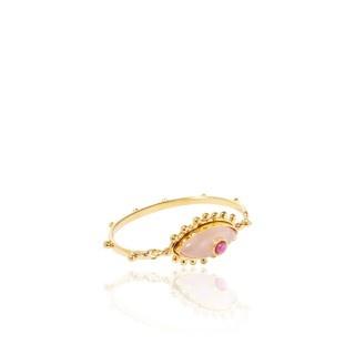 Sylvia Toledano Sylvia Toledano - Third Eye Bracelet - 18ct Gold Plated Brass with Ruby & Rose Quartz - Paris