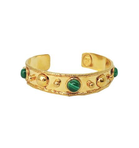 Sylvia Toledano Sylvia Toledano - Stone Massai Bracelet - 18ct Gold Plated Brass with Malachite - Paris
