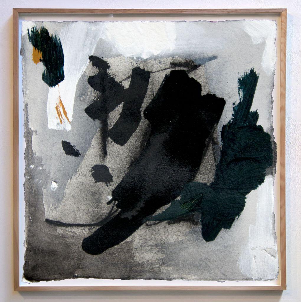 Depth & Stillness #6 - Acrylic on Paper - Antonia Mrljak - 33x33cm (framed) - Timber Box Frame - 2018