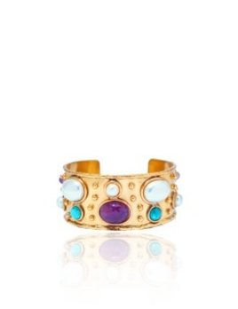 Sylvia Toledano Sylvia Toledano - Cuff Byantine - 18ct Gold Plated Brass with Amethyst, Tuquoise & Pearl - Paris