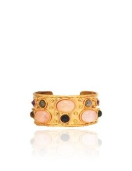 Sylvia Toledano Sylvia Toledano - Cuff Byantine - 18ct Gold Plated Brass with Rose Quartz & Labradorite - Paris