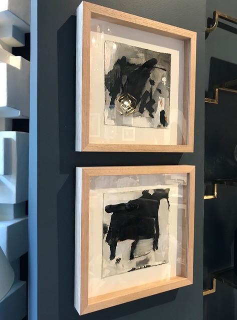 Depth & Stillness #7 - Acrylic on Paper - Antonia Mrljak - 33x33cm (framed) - Timber Box Frame - 2018
