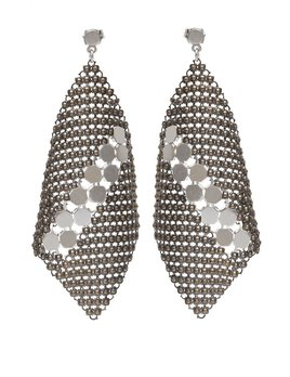 Laura B LAURA B - NEW BASICS - Kite Earrings - Silver Mesh - Sterling Silver Post - Handmade in Spain