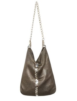 Laura B LAURA B - NEW BASICS - Party Bag - Silver Mesh and Brass Chain - Handmade in Spain