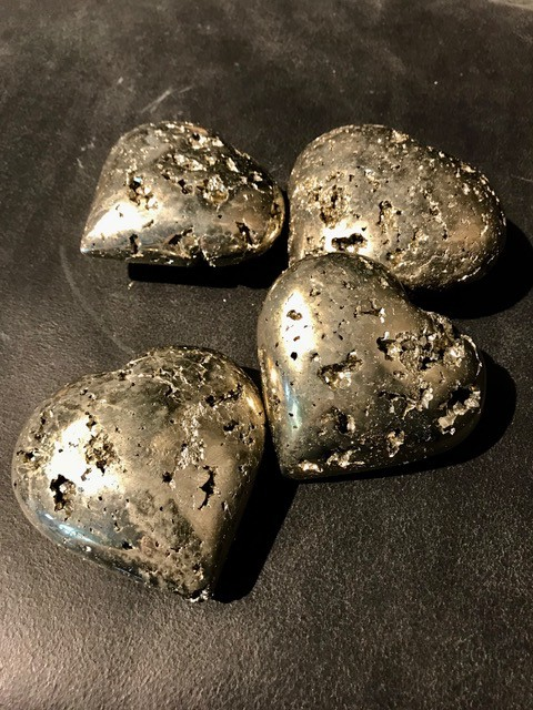 Pyrite Heart - Medium 9-10cm