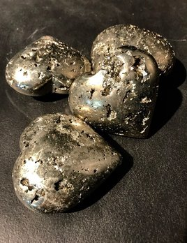 Pyrite Heart - Medium 10-11cm