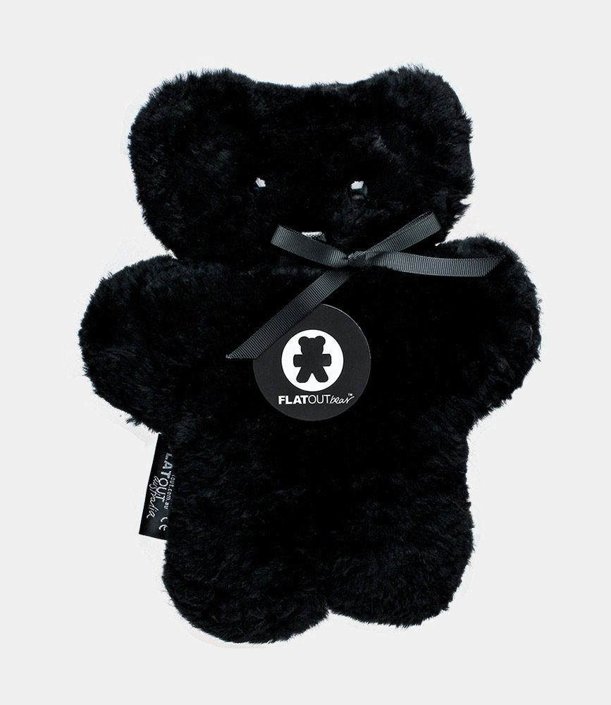 Flat Out Austrlia Flat Out Bear - Hand Made from 100% Sheep Skin - 28x24cm - Licorice