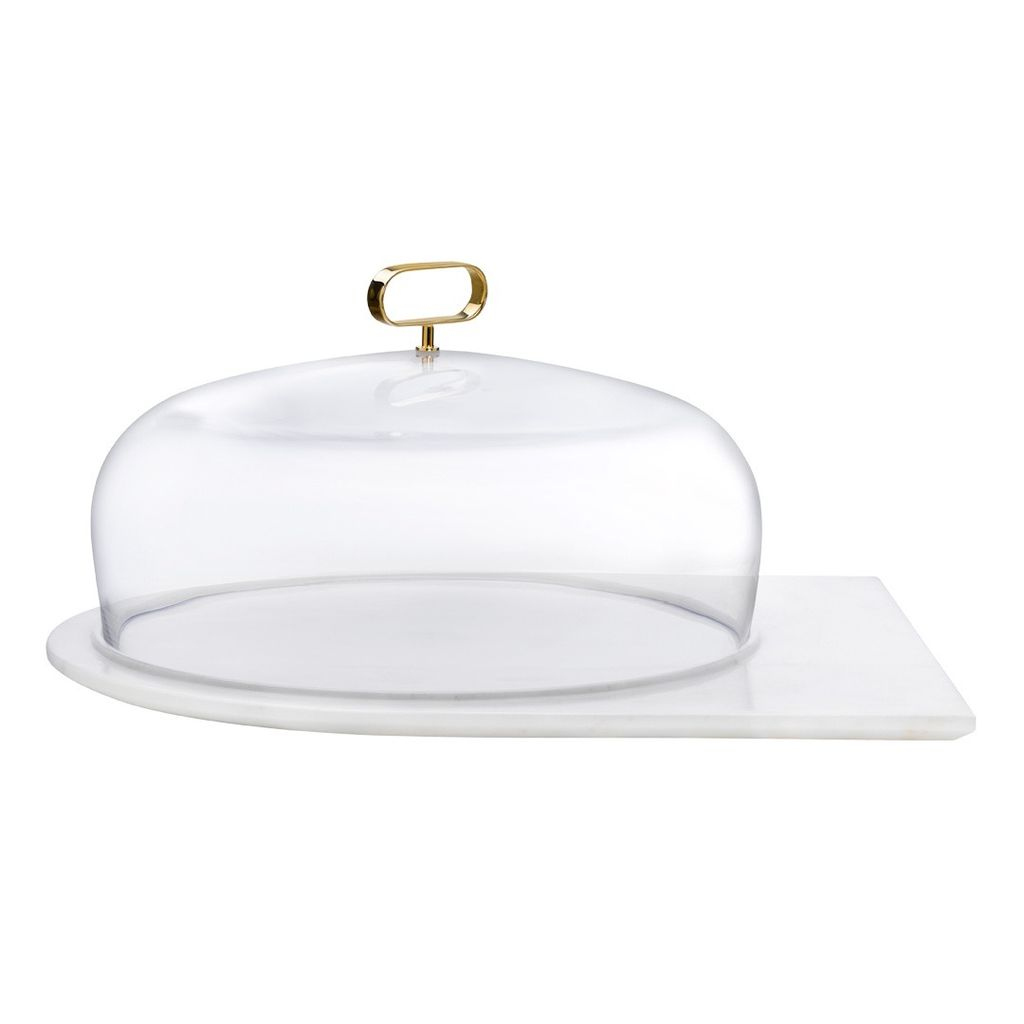 Nude Glass Cupola Cake Dome with Base