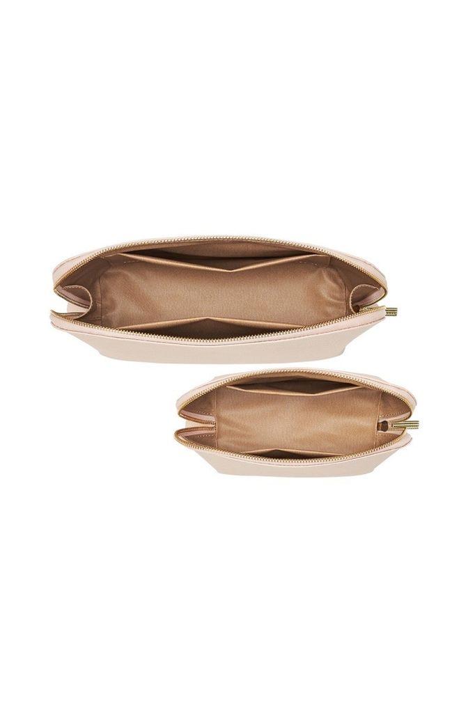 PAQME PAQME Travel Case Set - Leather - Blush