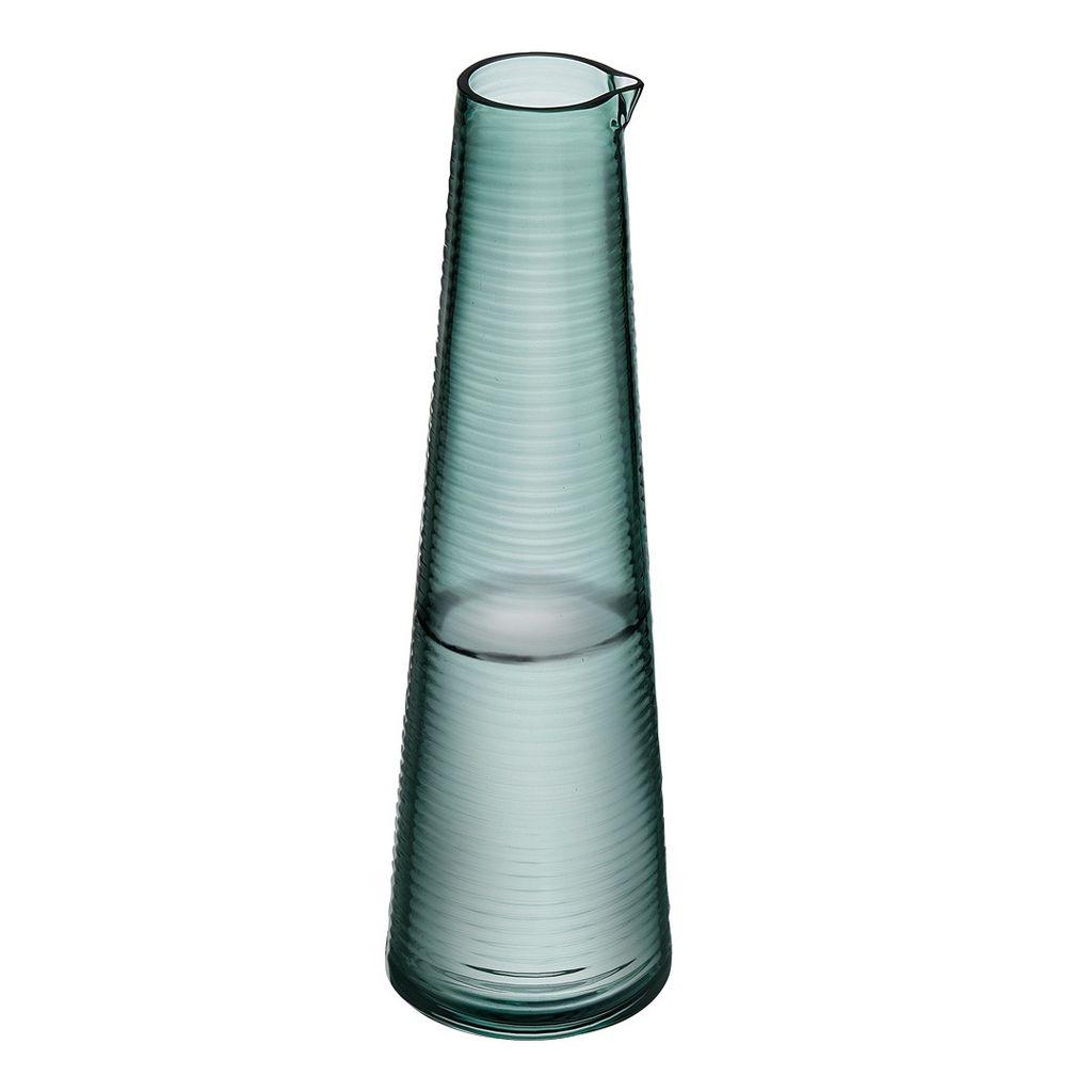 Nude Glass Poem Green Water Glass Bottle