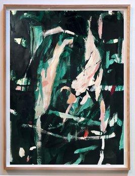 Gift #40 - Antonia Mrljak - Acrylic, Ink and Charcoal on Paper - 67x88cm (70x92cm framed) - Oak Box Frame - 2018