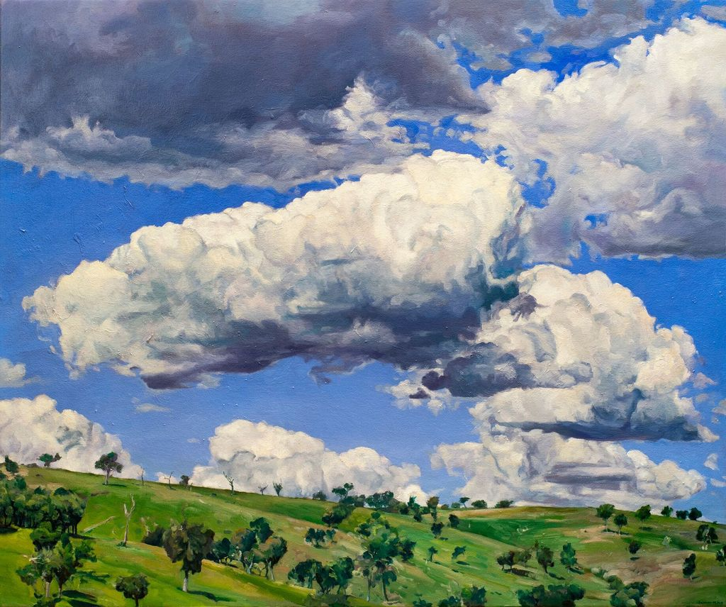 Markdale Bigga NSW 2018 - James King - Oil on canvas - H95x113cm (99x117cm framed)