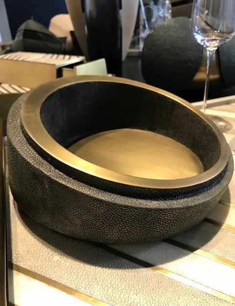 KIFU KIFU Paris - Large Bowl in Antique Black Shagreen