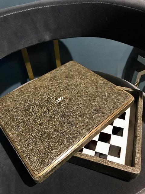 KIFU KIFU Paris - Chess Game Box in Shagreen