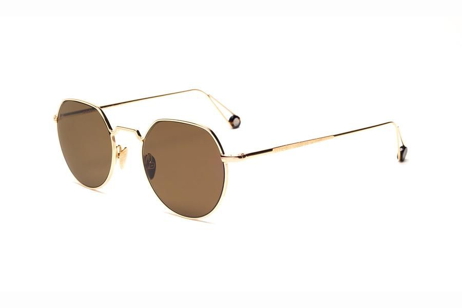 Proper Goods Ahlem Eyewear - Dauphine - Champagne - Christian Dalloz Cridal 2 Base Lenses with an interior anti-reflective coating - Gold Plated - Handmade in France