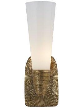 Kelly Wearstler Kelly Wearstler - Utopia Small Single Bath Sconce in Gild with White Glass