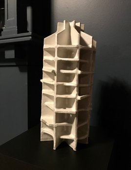 Natalie Rosin Gazebo - Natalie Rosin - Ceramic Sculpture inspired by the 1960's Design of the Gazebo Apartment Complex (Former Hotel) in Potts Point - Australia