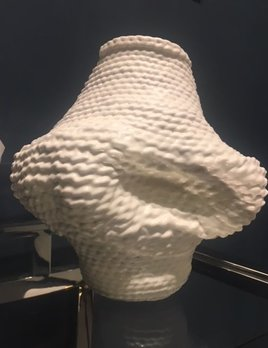 ACCUMULA (2018) Unique Dipped White Cotton Woven Vessel by By 2 by Lyn&Tony