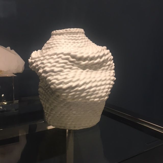 2 by lyn and tony ACCUMULA (2018) Unique Dipped White Cotton Woven Vessel by By 2 by Lyn&Tony