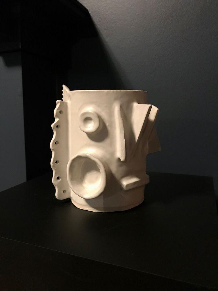 Natalie Rosin Vase 4 - Natalile Rosin - A White Glazed Ceramic Vase - Australia