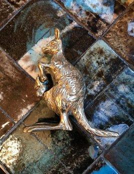 B.M.V.A. Vintage  Brass Kangaroo - H14cm c1970