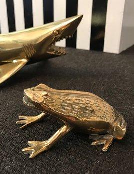 Vintage Brass Cane Toad - L11xH5cm