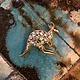 Gold Toned Clear Rhinestone Kangaroo Brooch