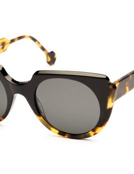 Proper Goods Res / Rei Sunglasses - Narciso -  Tort Black with Brown Lens - Acetate - Handmade in Italy