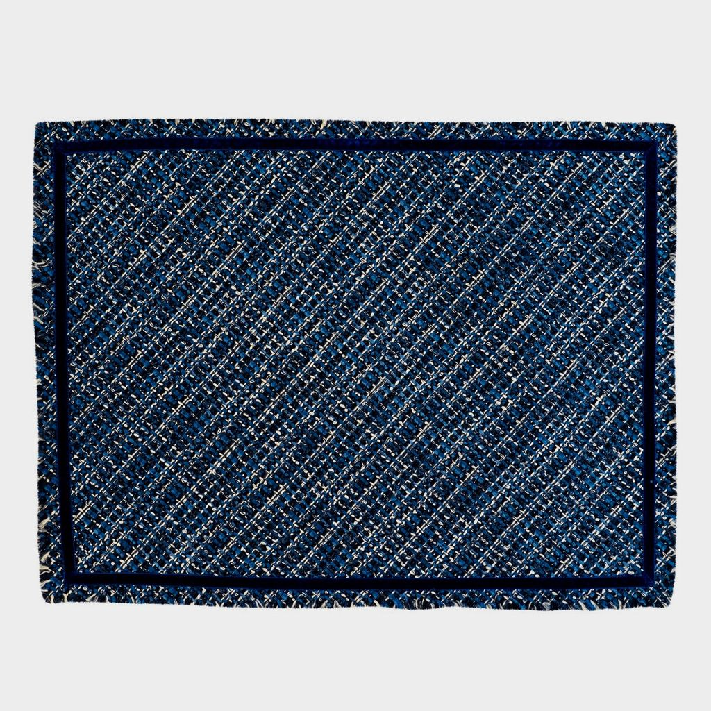 Dransfield & Ross D&R - Jackie O Placemat - Sapphire Navy Blue - Single