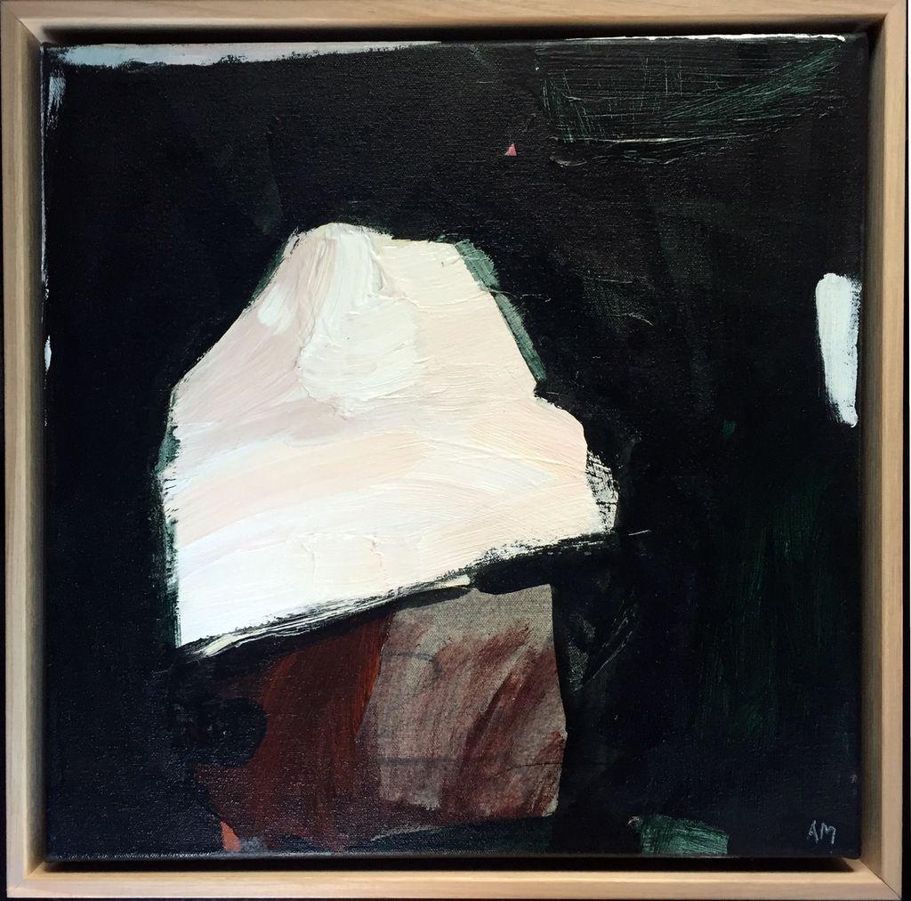 Walking Past Trees #2 - Acrylic on Canvas - Antonia Mrljak  - 41x41cm Oak Box Frame - 2018
