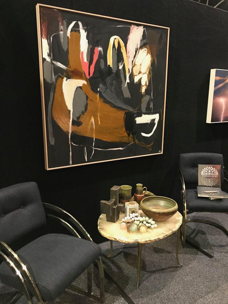 Walking Past Trees #8 - Acrylic on Canvas - Antonia Mrljak  - 120x122cm Oak Box Frame - 2018