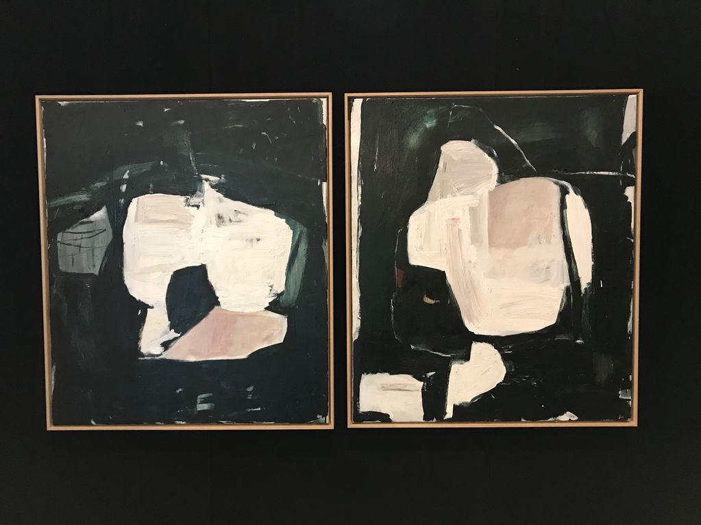 Walking Past Trees #6 - Acrylic on Canvas - Antonia Mrljak  - 97x112cm Oak Box Frame - 2018