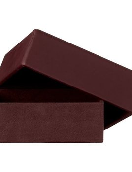 AYTM Theca Leather Box - Bordeaux - Square - H6x17x17cm