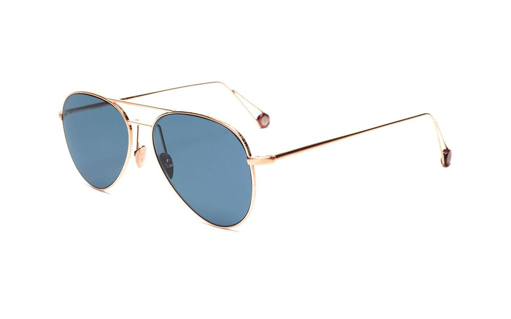 Proper Goods Ahlem Eyewear - Pantheon - Christian Dalloz Hydrophobic Lenses - Brush Rose Gold Plated - Handmade in France