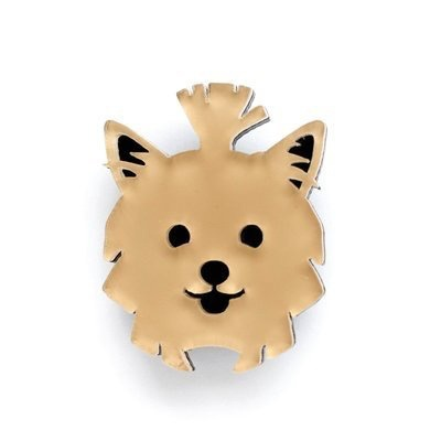 BECKER MINTY Yorkshire - Dog Brooch - Laser Cut Plexiglass - From Russia with Love